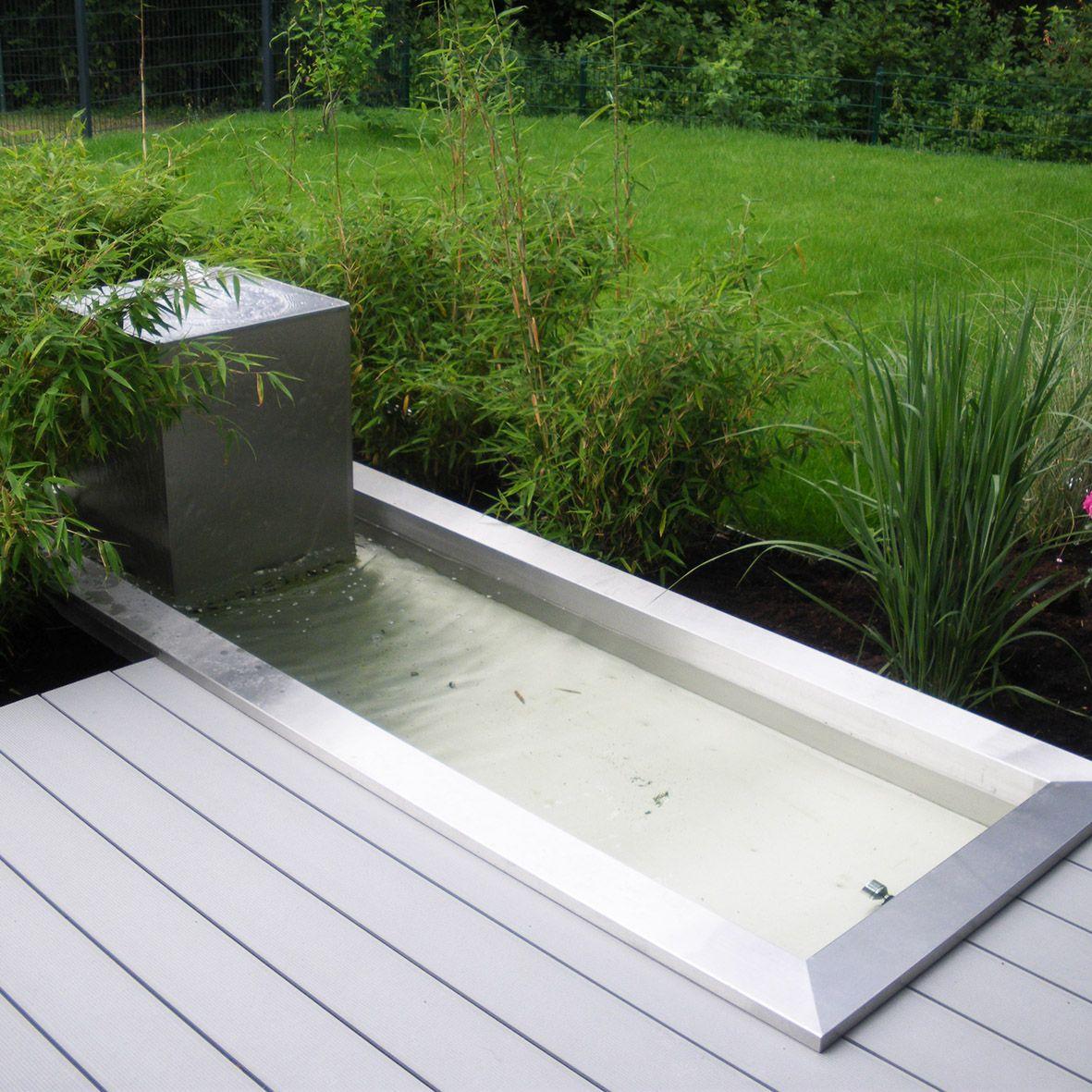 Brunnen Aus Edelstahl Wasserbecken Garten Brunnen Garten Indoor Wassergarten