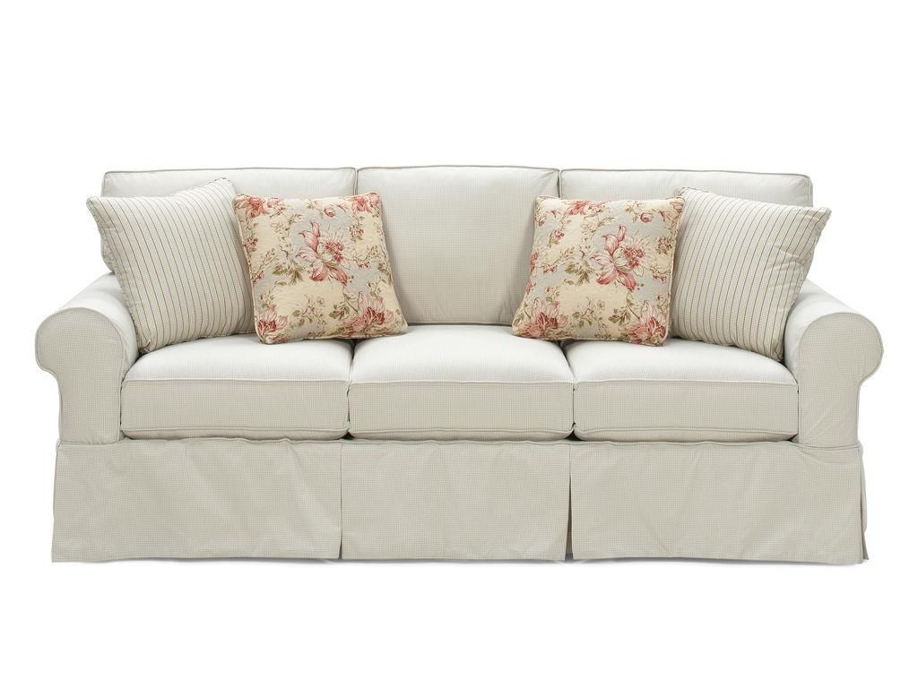 Nothing Says Casual Like A Great Slipcovered Sofa This One Features A True Removable Slipcover That Fits Snugly With Velcro Cushions On Sofa Sofa Room Sofa