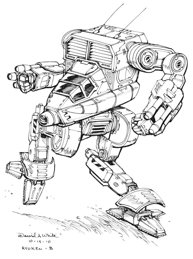 Chose To Have Me Do A Sketch As His Prize From The Summer Of Mecha Contest Held By It Is A Ryoken B From Battletech He Will Receive Mecha Character Art