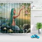 US STOCK Sea Water Lily Beautiful Mermaid Shower Curtain Set Bathroom Decor 72 #BathroomSupplies #mermaidbathroomdecor