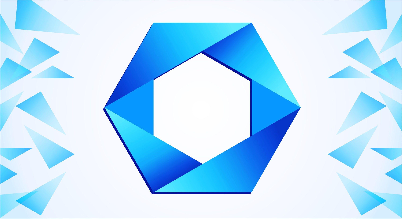Polygon logo design in corel draw
