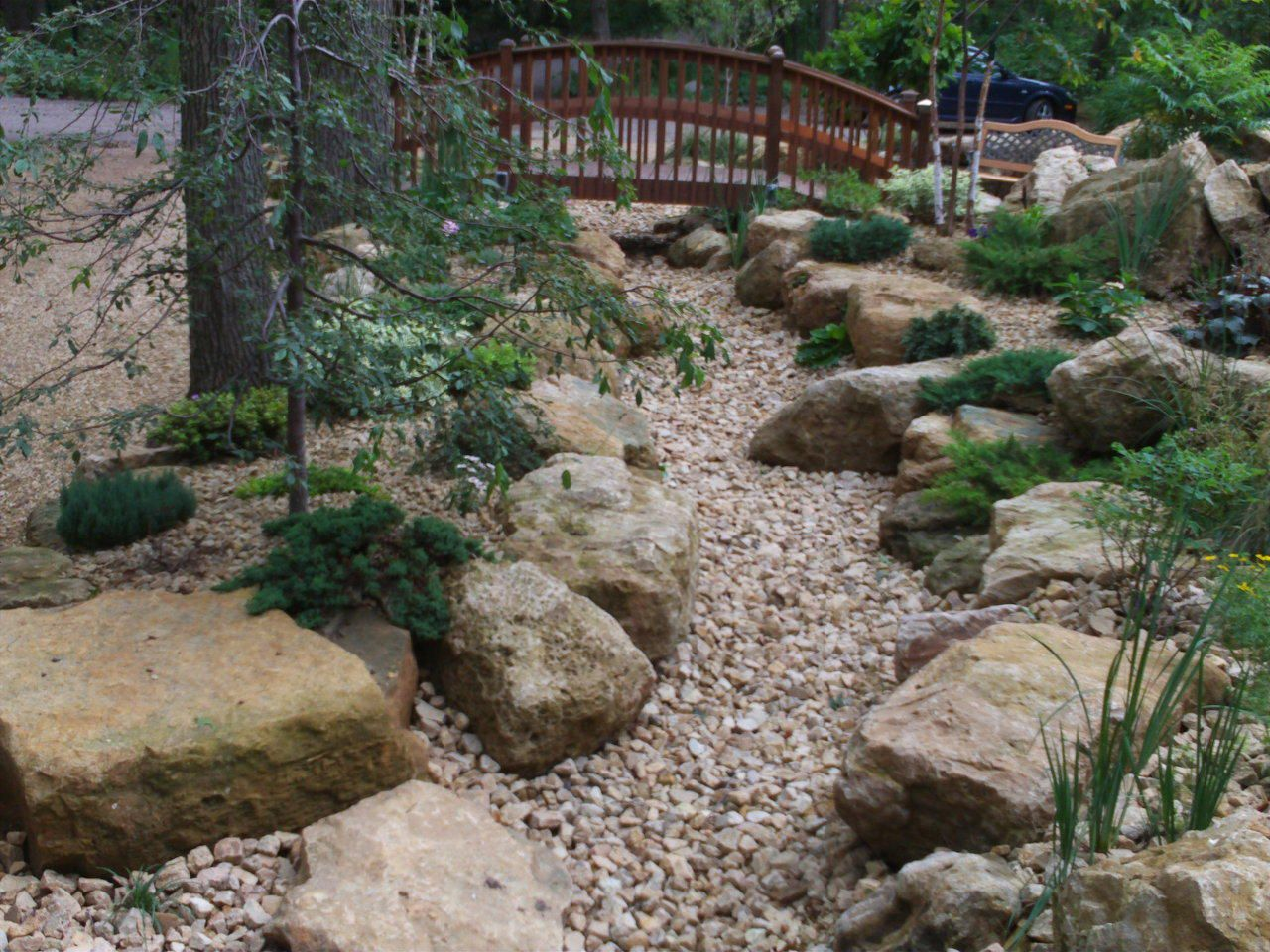 dry riverbed landscaping my outdoors dry riverbed landscaping dry creek bed dry river. Black Bedroom Furniture Sets. Home Design Ideas