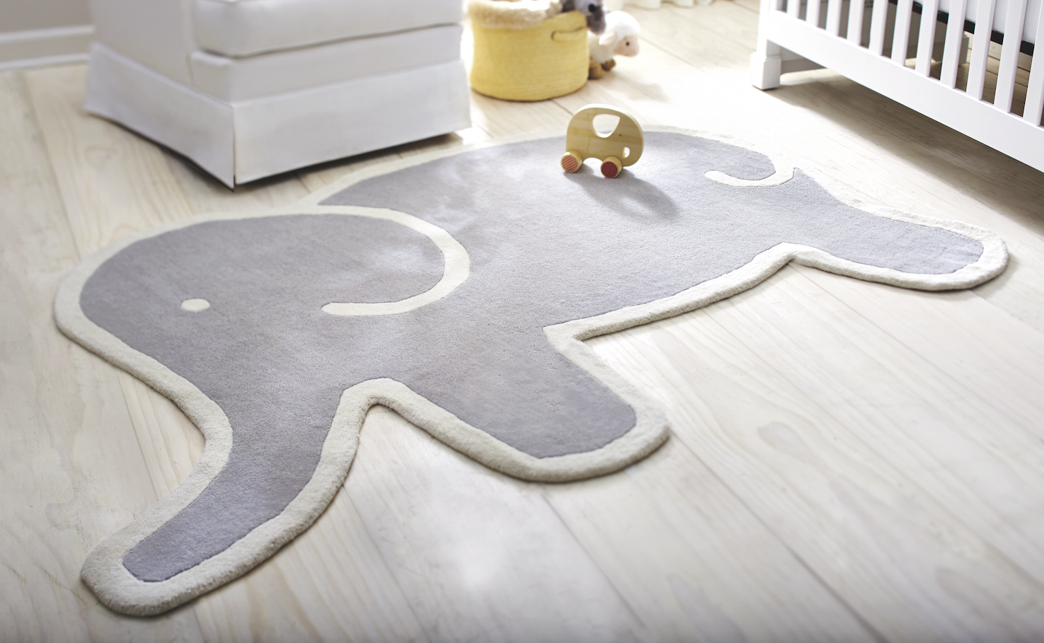 This adorable martha stewart living elephant rug is the for Martha stewart rugs home decorators
