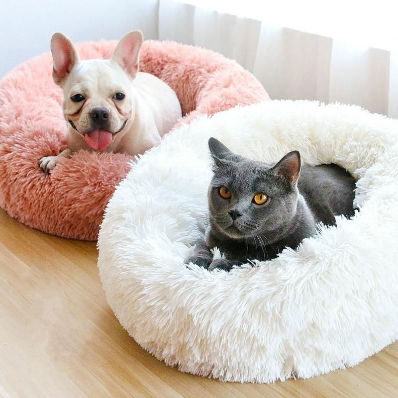 Comfy Calming Amazing Marshmallow Bed Plush Pet Bed Cat Bed Pet Cushions