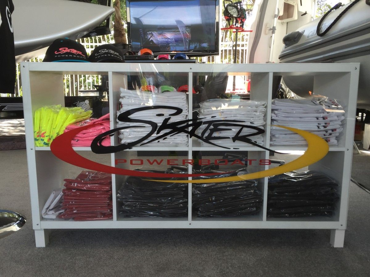 This hack was created because I needed a lightweight, professional looking retail display counter for a trade show.