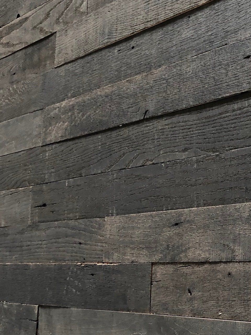 Store Wood Accent Wall Barn Board Wall Black Barn