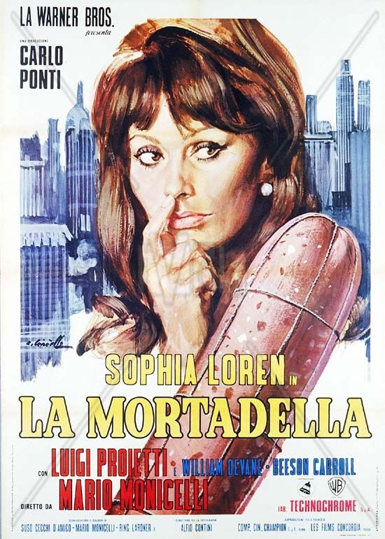 Sophia Loren in 'Lady Liberty' (aka 'La Mortadella') via ITALY Magazine |  Cartaz, Filmes e Her filme