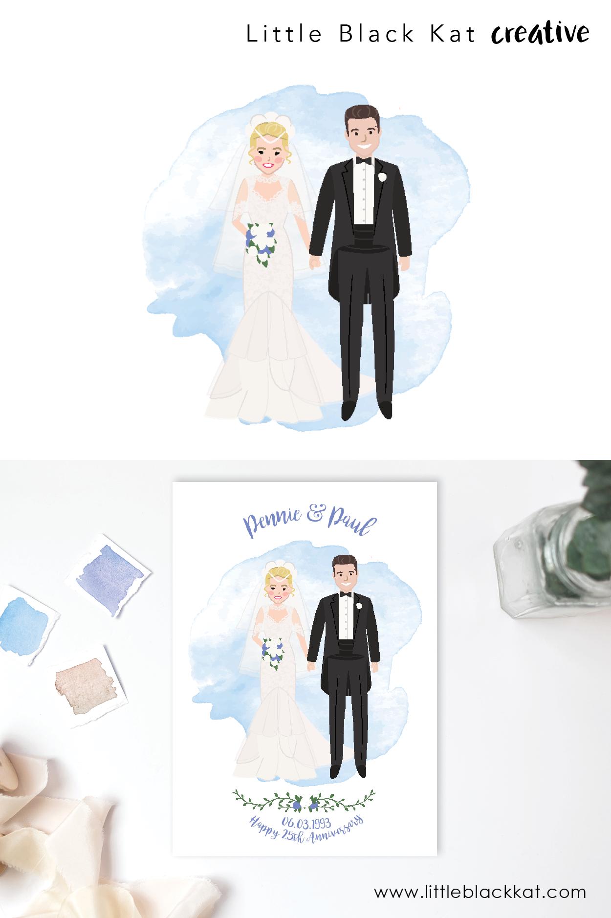 Custom Wedding Portrait Drawing Personalised Wedding Gift First Wedding Anniversary Gift Wedding Keepsake Bride And Groom Illustration Personalized Wedding Gifts Wedding Illustration Personalized Wedding