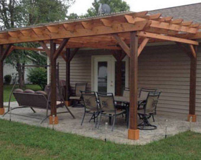 Covered Pergola Plans 12x24 Outside Patio Wood Design Covered Deck Diy Outdoor Pergola Pergola Patio Backyard Pergola