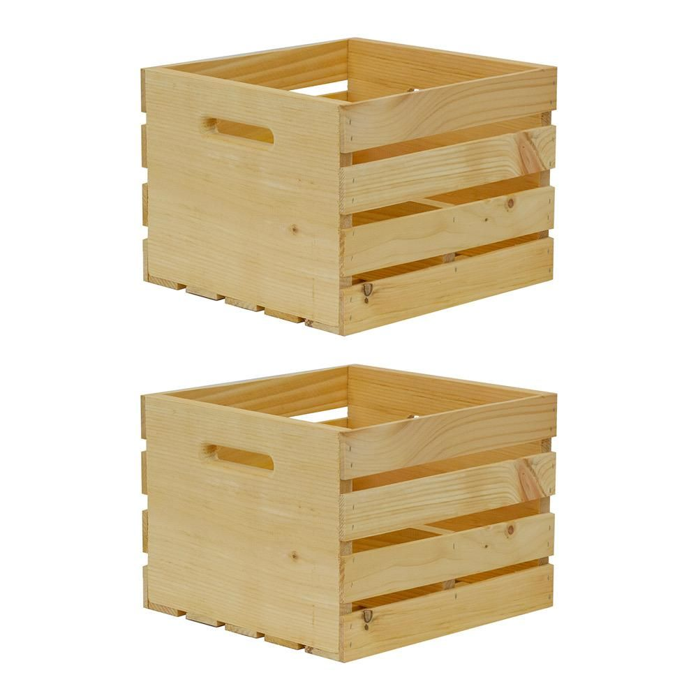 Retail Resource 100 Unfinished Rustic Crate 18 x 14 x 12