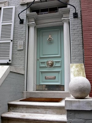 Pale Green Door Exterior Color Rethinking Painting The Front Yellow Now
