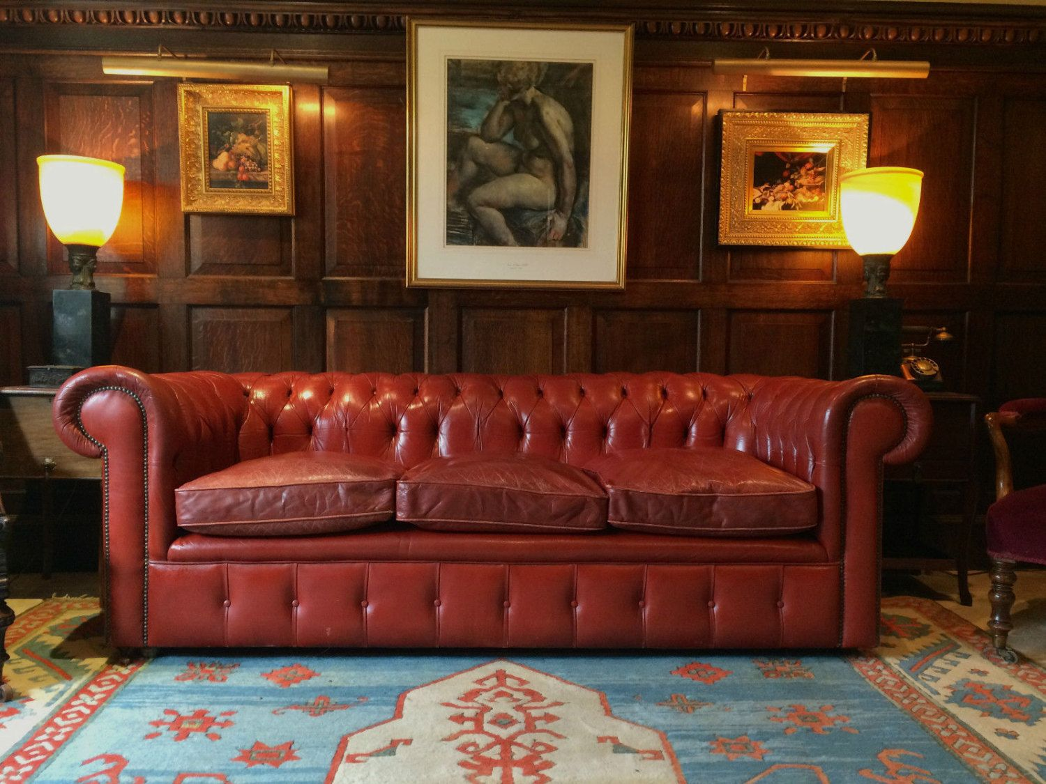 A Stunning Red Leather Sofa Gives Class Red Leather Sofa Red