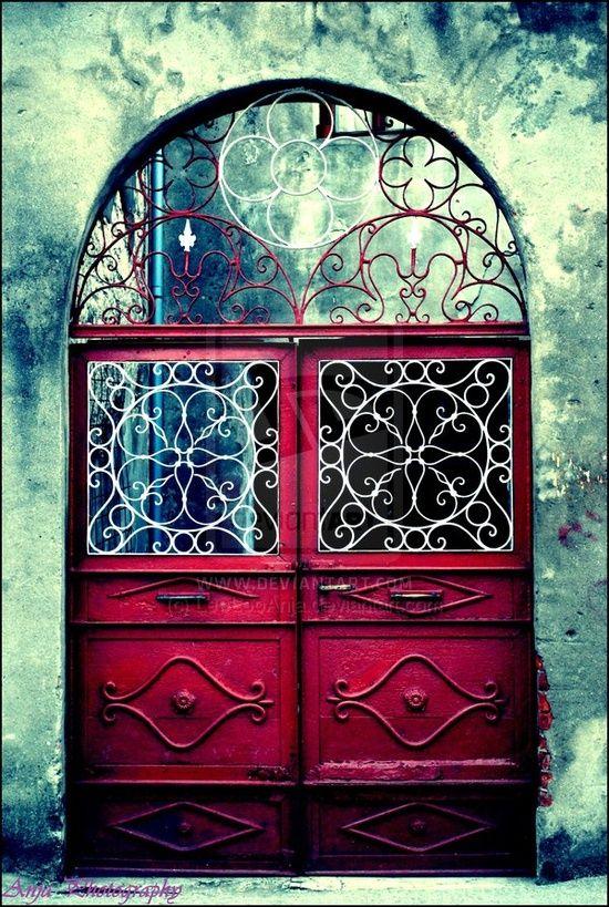 wrought door