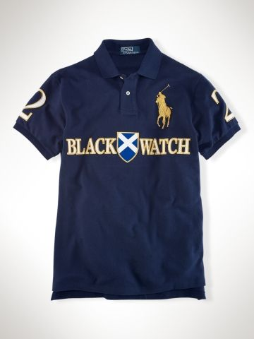 Custom-Fit Black Watch Polo - Polo Ralph Lauren Custom-Fit - RalphLauren.com 61b1451e057