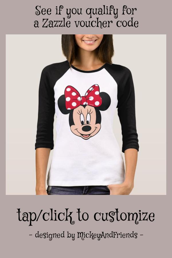 Minnie Mouse  Head Logo TShirt