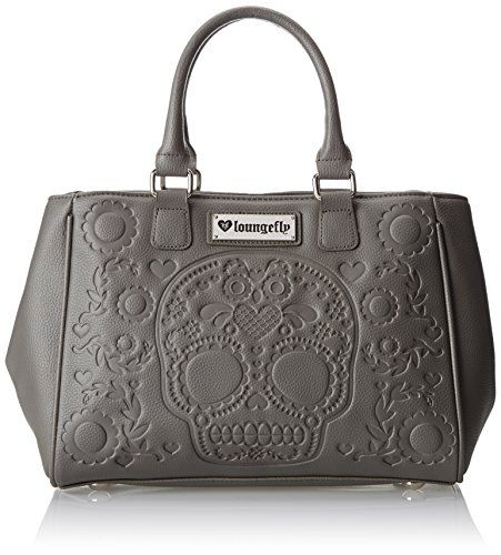 Loungefly Sugar Skull Emboss Fashion Tote Shoulder Bag Grey One Size Loungefly Http Www Amazon Com Dp B00jycg2wu Ref Cm Sw R P Fashion Tote Shoulder Bag Bags