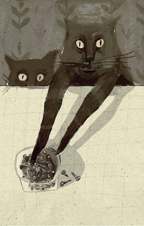 Pin By Carole Jones On Arty Katz Black Cat Art Cats