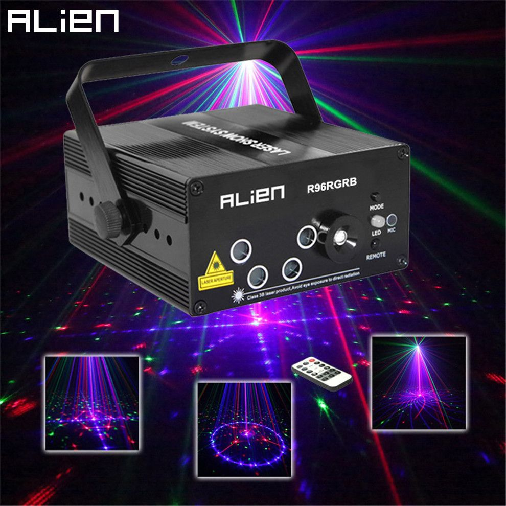 ALIEN Nieuwe 96 Patronen RGB Mini Laser Projector Licht DJ Disco ...