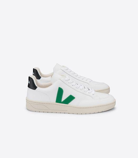Veja Sneaker Damen - V-12 Leather Extra White Emeraude Black