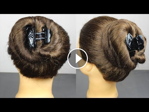 Easy Quick Cute Juda Hairstyles With Using Clutcher Cute