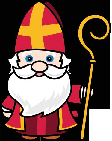 Sticker Sinterklaas Met Staf ☼ Sinterklaas Sinterklaas