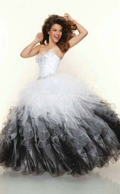 Mix color tulle sweetheart lace up ball gown cascading ruffles new 2013 paparazzi by mori lee 91001 white and black tulle ball gown prom dresses find this pin and more on diy solutioingenieria Image collections