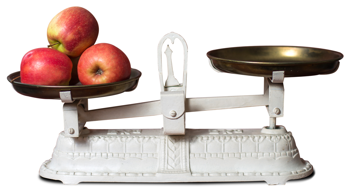 Fresh Apple in Weight Scale PNG Image Weight scale