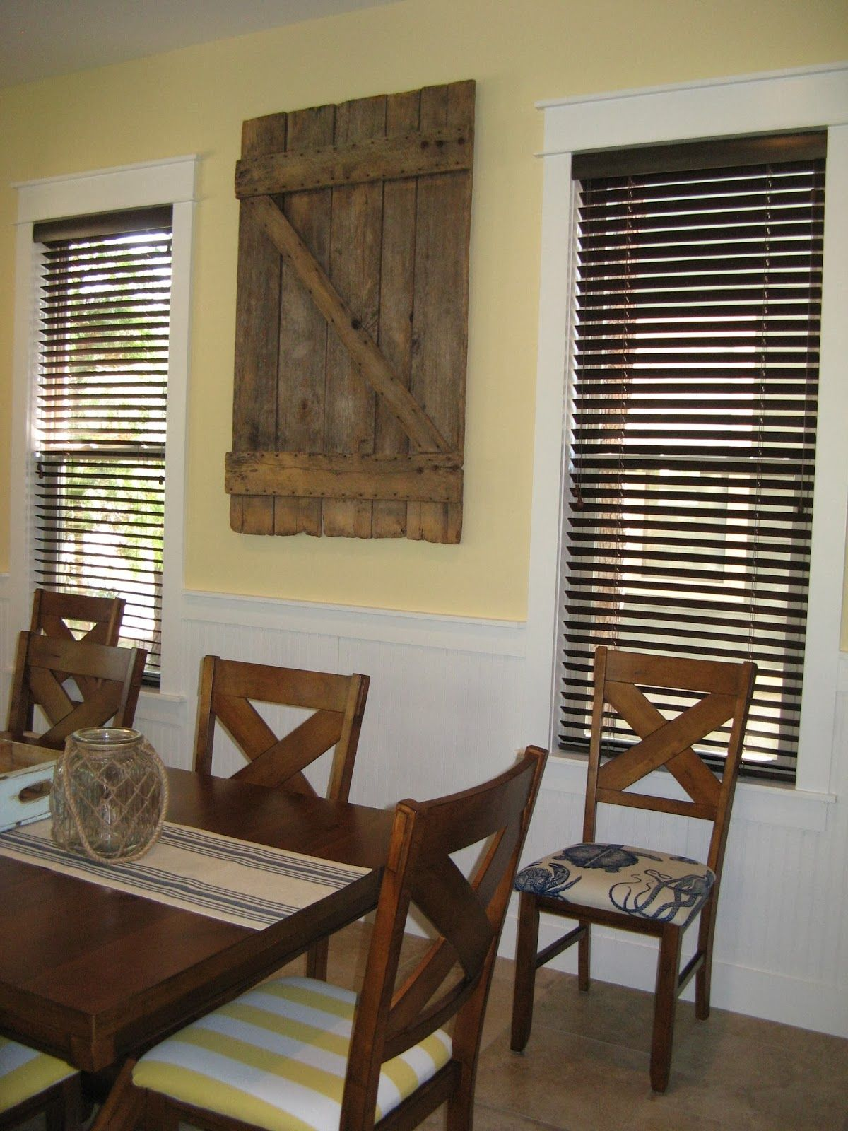 The barn door is one of my favorite pieces in our beach cottage ...