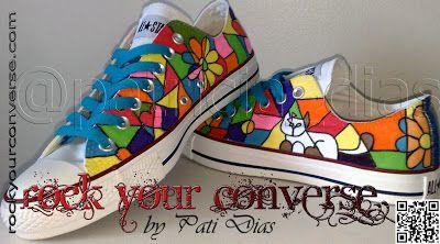 4782b794d06f52 Converse All Star Customizado - Rock Your Converse!  Pop Art de Romero  Britto