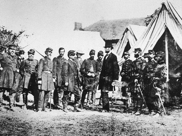 Civil War Pic McClellan Abraham Lincoln 1862 PHOTO,Battle of Antietam With Gen