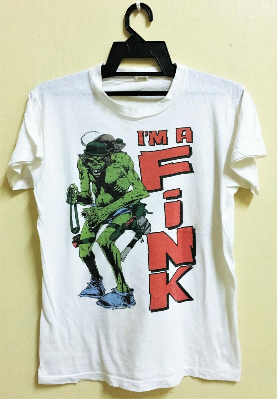 L T-Shirt ROKKER Vintage Farbe Schwarz Gr