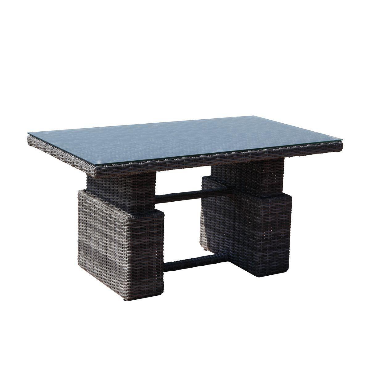 Greemotion Rattan Esstisch Bari In Grau Mit Glasplatte Gartentisch Hohenverstellbar Lounge Tisch Fur 4 Personen Gartenmobel Aus Polyrattan Fur Terrasse B Tisch Esstisch Holztisch Selber Bauen
