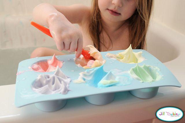 super fun - rainbow bath paint