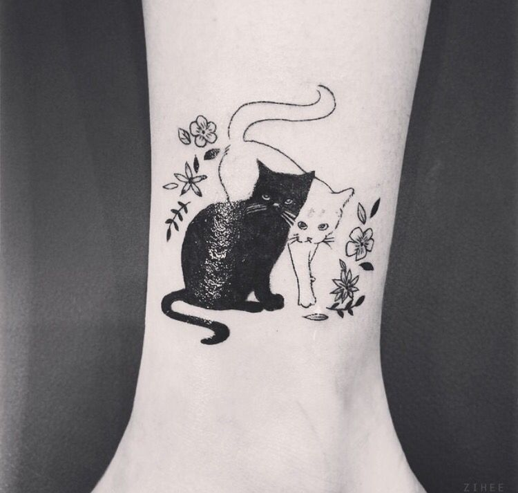 Cat Tattoo Omg This Is Perfect I Would Turn It Sailor Moon Theme Though Tattoos Cat Tattoo Designs Cat Tattoo Black Cat Tattoos