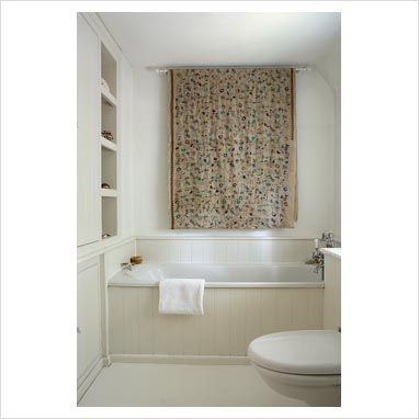GAP Interiors Classic Bathroom With Fabric Wall Hanging Home - Wall hangings for bathroom