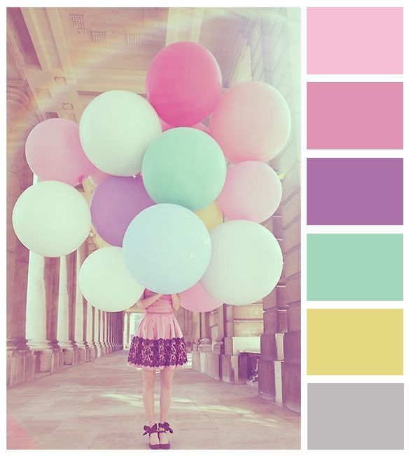 Pastel Color Palette: COLORS: Rainbow & Multi