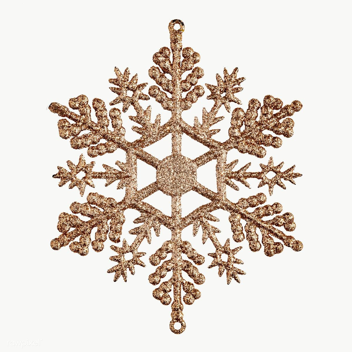Download Premium Png Of A Gold Snowflake Christmas Ornament On Transparent Gold Snowflake Christmas Ornaments Snowflakes