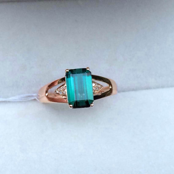 Hey, I found this really awesome Etsy listing at https://www.etsy.com/listing/211986811/blue-green-tourmaline-ring-engagement