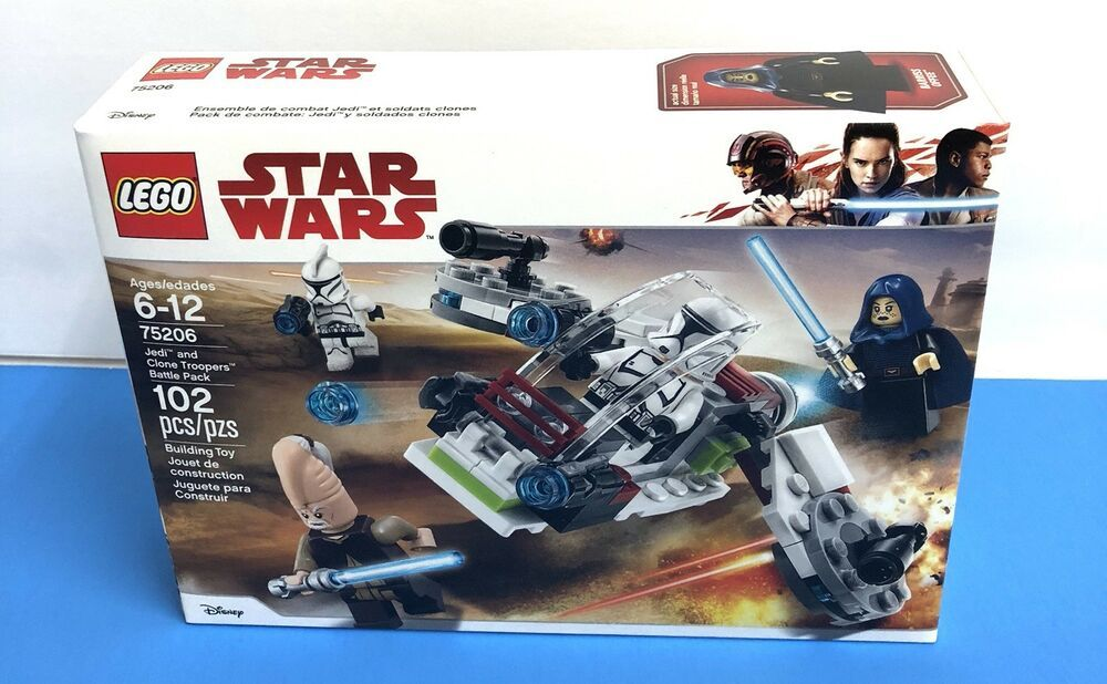 Lego Star Wars Jedi /& Clone Troopers Battle Pack New//Factory Sealed 75206