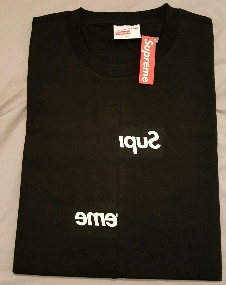 3e207aa18dcd Supreme Comme Des Garcons Shirt Split Box Logo Tee Black XL FW18 In Hand # Supreme #BoxLogotee