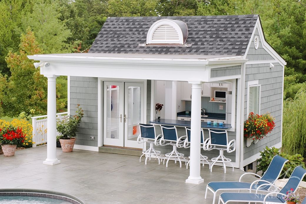 Pool House Ideas Part - 21: The Pool House Is Situated On The Edge Of The Patio, Over A Hill.