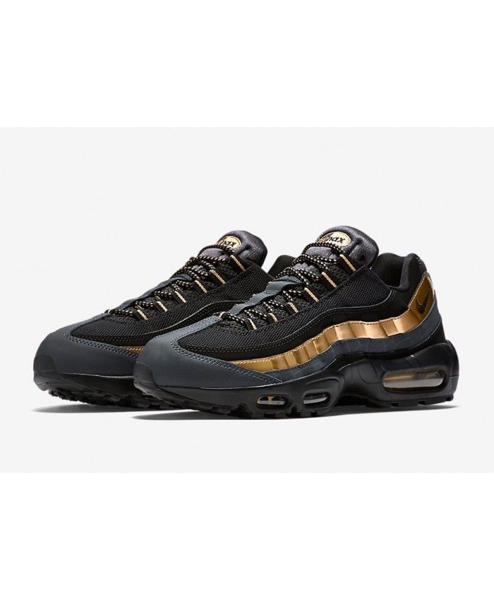 lower price with big sale classic fit Mens Nike Air Max 95 Black Anthracite Deep Grey Bronze ...