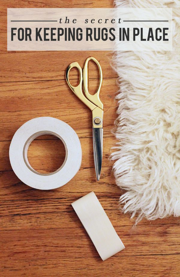 How to's : The Designer Secret for Keeping Rugs in Place (using an unexpected tape!!)