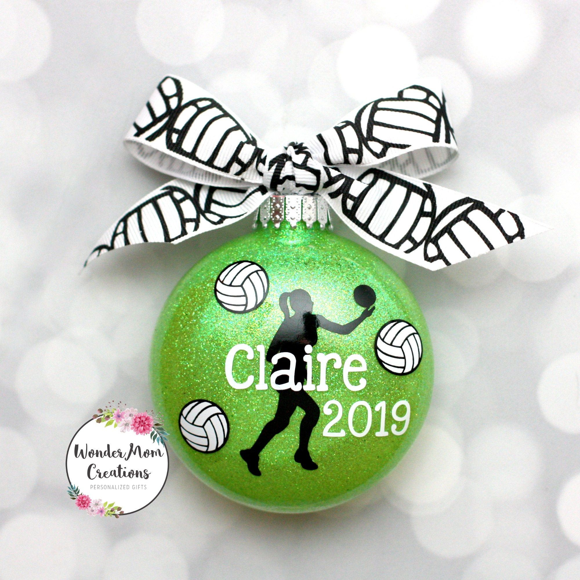Volleyball Ornament Personalized; Girl Volleyball Player