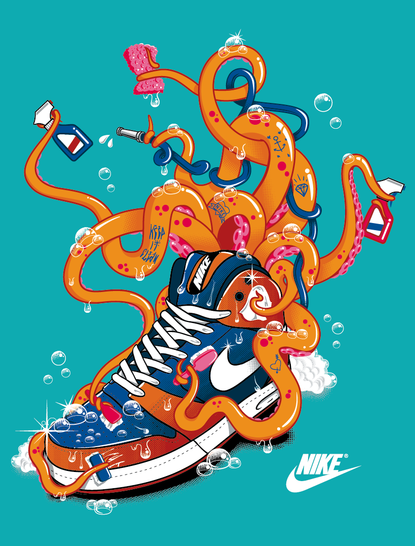 Design t shirt artwork - Nike T Shirt Octopus By Tokyocandies This Design Has Been Made For The