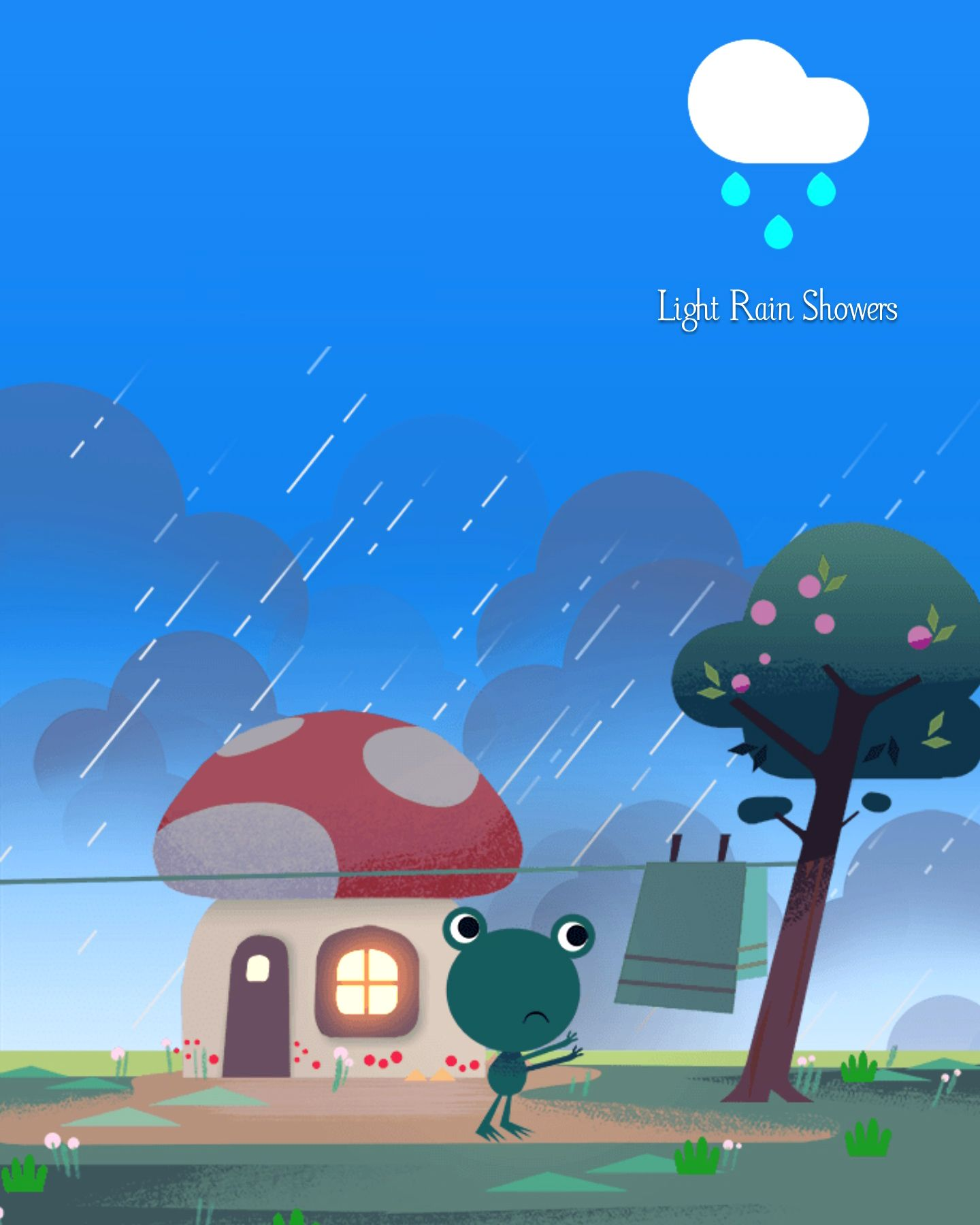 Light Rain Showers With Images Google Weather Frog Pictures