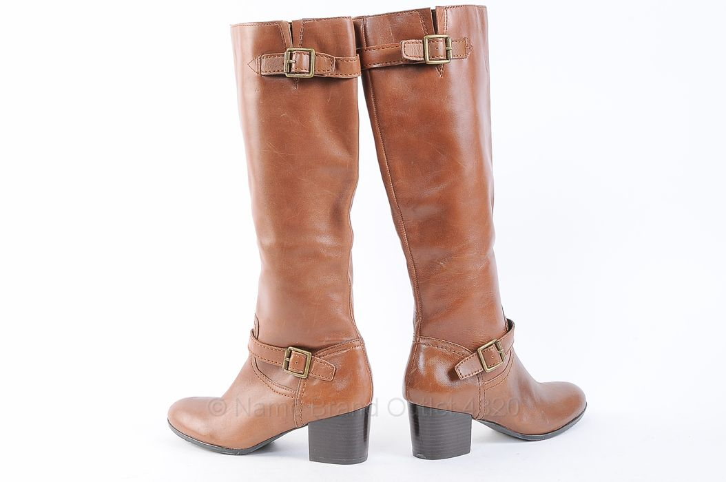 "FRANCO SARTO. ""Opera."" Knee-high. Boots. Chunky. Brown."