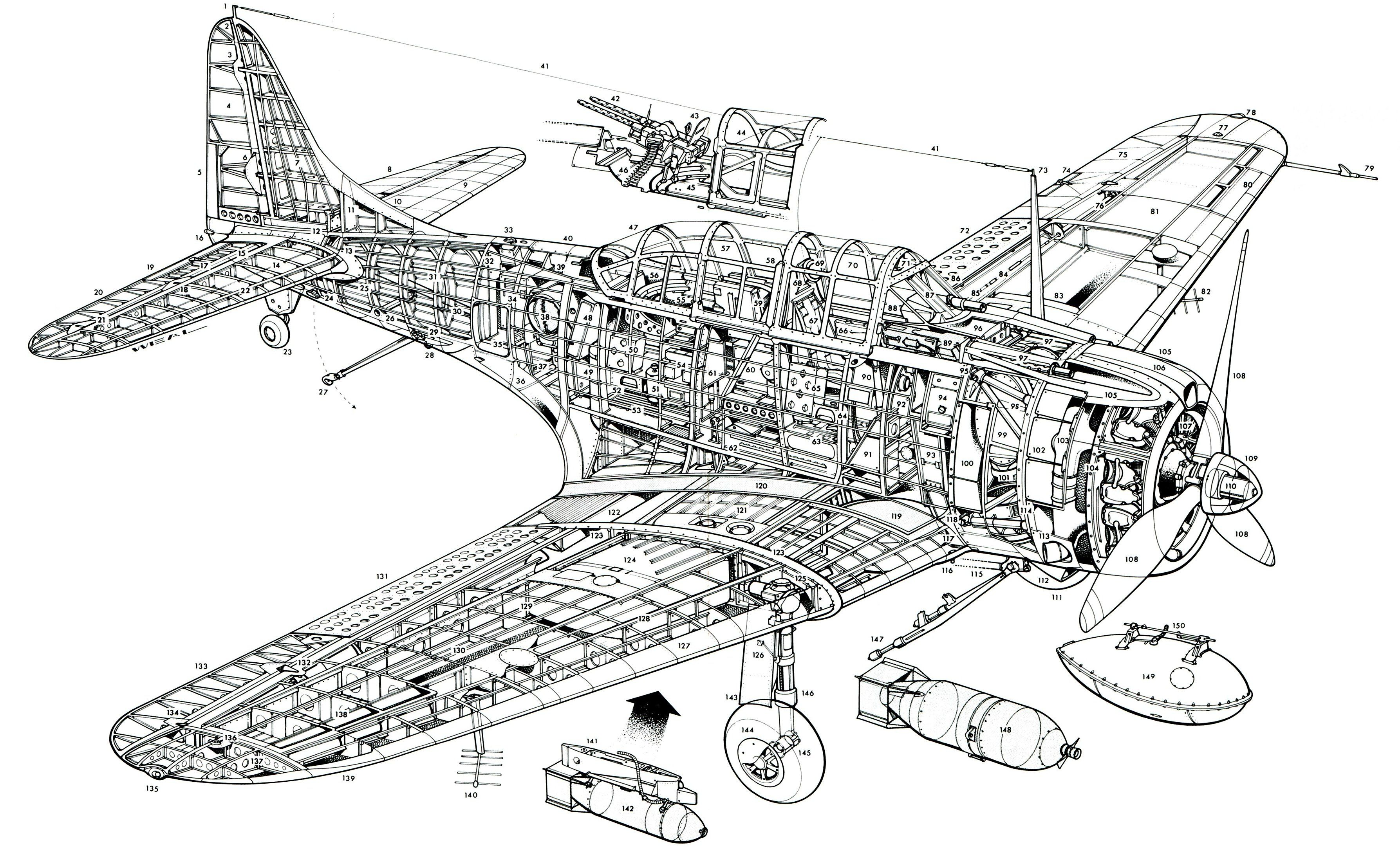 Pin By Nigel Albright On Wwii Aircraft Cutaways