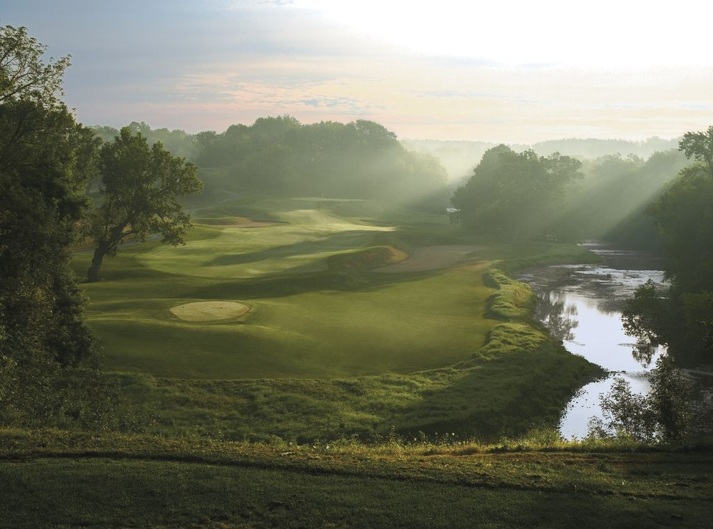 """""""Made In Heaven"""" - Hole 5 on River course at Blackwolf Run"""
