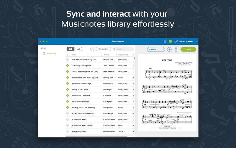 Musicnotes Sheet Music Player App Download Android Apk Music